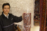 In-plant hand washing of Oriental Rugs