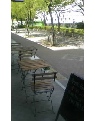 Patio Seating at Cafe Soyokaze