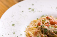 Spaghetti with Crabfish Tomato Cream